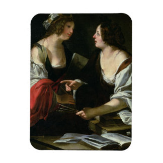 Allegory of Painting and Architecture c 1620 oil Rectangle Magnets