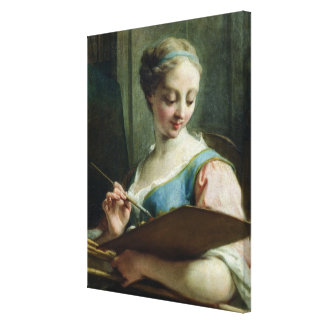 Allegory of Painting Gallery Wrapped Canvas