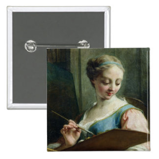 Allegory of Painting Pinback Button