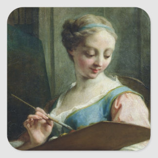 Allegory of Painting Square Sticker