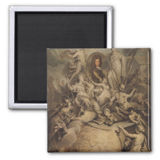 Allegory of Philippe II  Duke of Orleans, 1718 2 Inch Square Magnet