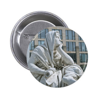 Allegory of Philosophy of Schiller Monument in Ber Buttons