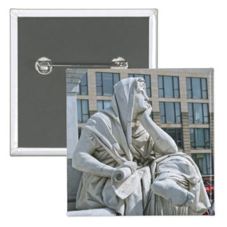 Allegory of Philosophy of Schiller Monument in Ber Pinback Button