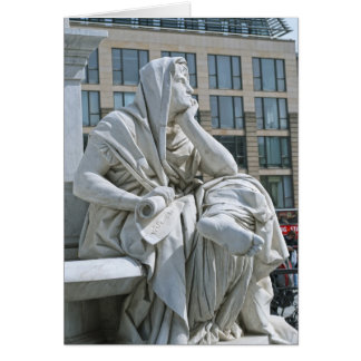 Allegory of Philosophy of Schiller Monument in Ber Card