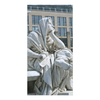 Allegory of Philosophy of Schiller Monument in Ber Picture Card