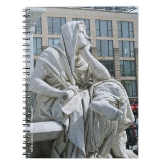 Allegory of Philosophy of Schiller Monument in Ber Spiral Notebook