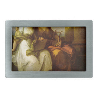 Allegory of poetry and music by Angelica Kauffman Belt Buckles