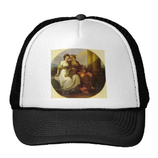 Allegory of poetry and music by Angelica Kauffman Trucker Hat