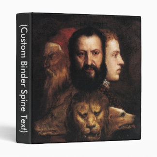 Allegory of Prudence 3 Ring Binder