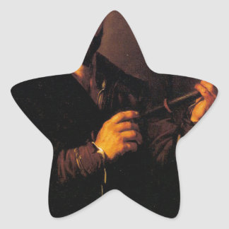 Allegory of Sight by Jusepe de Ribera Star Sticker