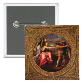 Allegory of Speed, Toil and Exercise, from the cei 2 Inch Square Button