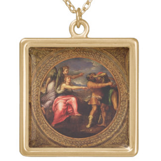 Allegory of Speed, Toil and Exercise, from the cei Square Pendant Necklace