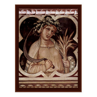 """Allegory Of Summer Medallion Of Good Government"""" Postcard"""