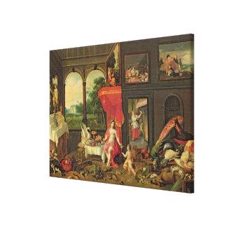 Allegory of Taste Canvas Print