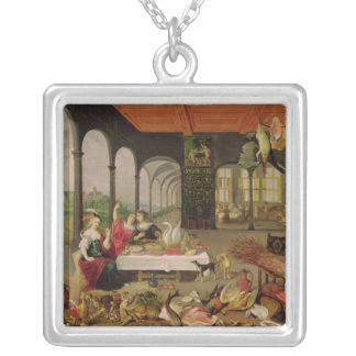 Allegory of Taste Silver Plated Necklace