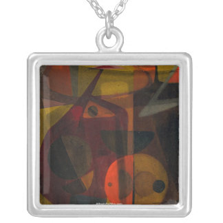 Allegory of Tension Square Pendant Necklace