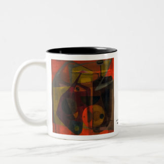 Allegory of Tension Two-Tone Coffee Mug