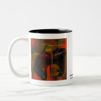 Allegory of Tension Two-Tone Coffee Mug