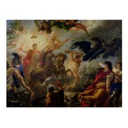 Allegory of the Battle of Austerlitz Postcard