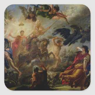 Allegory of the Battle of Austerlitz Square Stickers