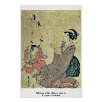 Allegory of the Chinese sage by Utagawa,Toyohiro Poster