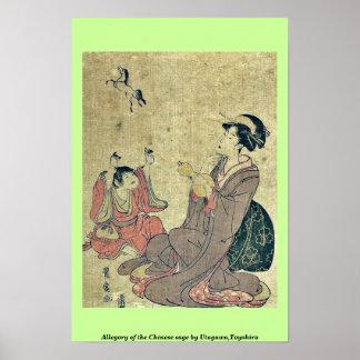 Allegory of the Chinese sage by Utagawa,Toyohiro Print