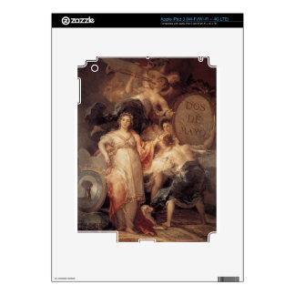 Allegory of the City of Madrid by Francisco Goya Decal For iPad 3