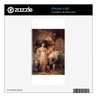 Allegory of the City of Madrid by Francisco Goya iPhone 4S Decal