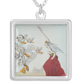 Allegory of the Commune, 1871 Square Pendant Necklace