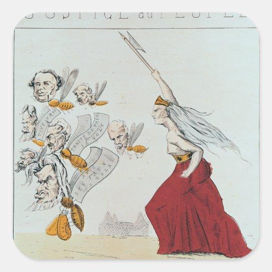 Allegory of the Commune, 1871 Square Sticker