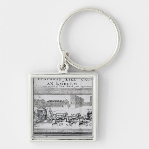 Allegory of the Dangers of Low Church Keychain