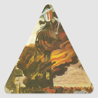 Allegory of the destruction of the cathedral triangle sticker