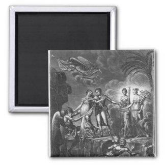 Allegory of the Good Government 2 Inch Square Magnet