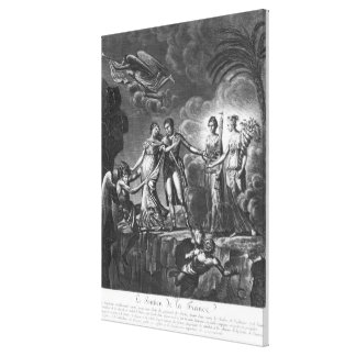Allegory of the Good Government Canvas Print