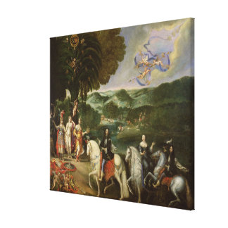 Allegory of the Marriage of Louis XIV  in 1631 Canvas Print