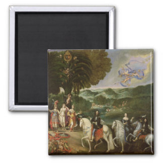 Allegory of the Marriage of Louis XIV  in 1631 Refrigerator Magnets