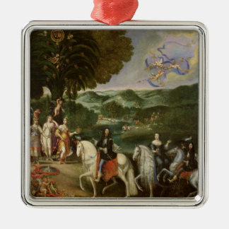 Allegory of the Marriage of Louis XIV  in 1631 Metal Ornament