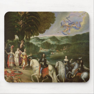 Allegory of the Marriage of Louis XIV  in 1631 Mousepads