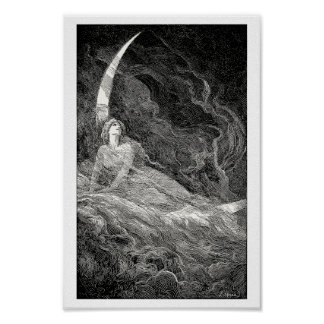 Allegory of the moon poster
