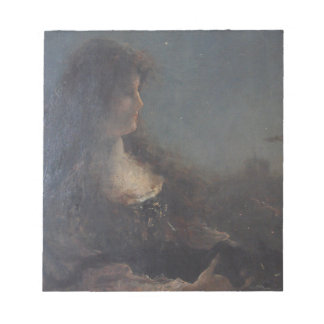 Allegory of the night by Alfred Stevens Notepad