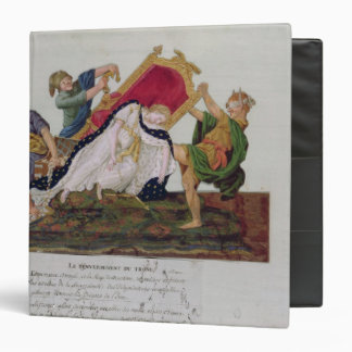 Allegory of the overturning of the throne 3 ring binder