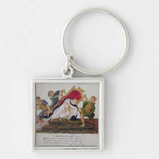 Allegory of the overturning of the throne keychain