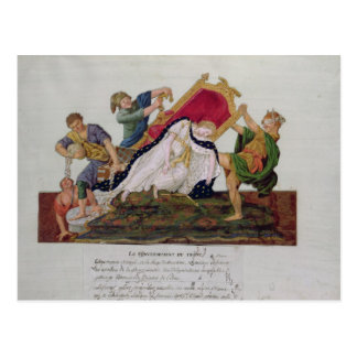 Allegory of the overturning of the throne postcard