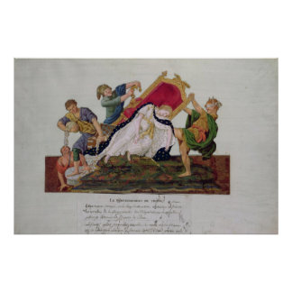 Allegory of the overturning of the throne poster