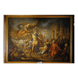 Allegory of the Peace of Aix-la-Chapelle, 1761 Poster