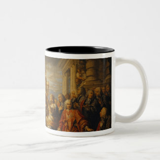 Allegory of the Peace of Aix-la-Chapelle, 1761 Two-Tone Coffee Mug