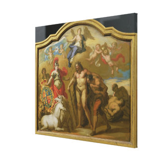 Allegory of the Power of Great Britain by Land, de Stretched Canvas Prints