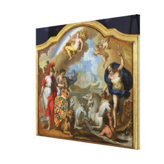 Allegory of the Power of Great Britain by Sea, des Canvas Print