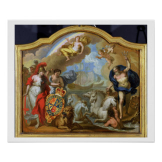 Allegory of the Power of Great Britain by Sea, des Poster