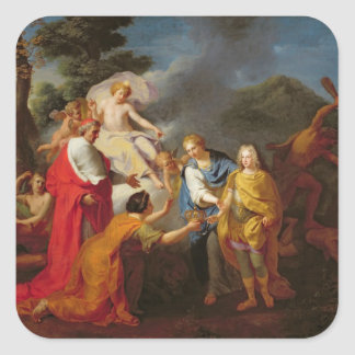 Allegory of the Recognition of Philippe de France Square Sticker